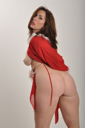 Sexy female Paige Turnah exposes her tits and ass in a Red Riding Hood outfit