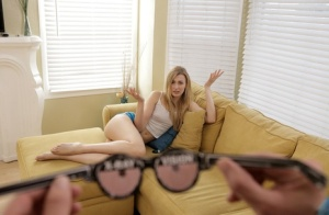 Slim blonde girl Alexa Grace gets banged by her stepbrother's large penis
