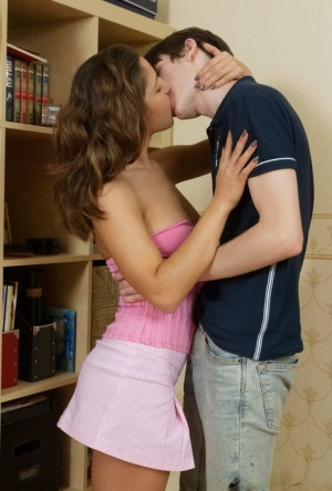 Busty teen Dasha gets banged on shag carpet by her stepbrother