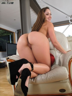 Sexy Remy LaCroix on knees showing round ass & masturbating with vibrator