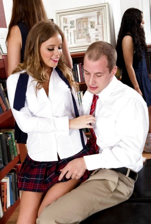 Alexis Adams is fucked by her schoolmate while in a school uniform