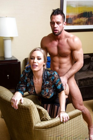 Blond pornstar Nicole Aniston taking deep ass pounding doggystyle