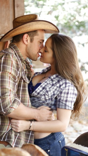 Dani Daniels and ranch hand fucking hard in horse stables