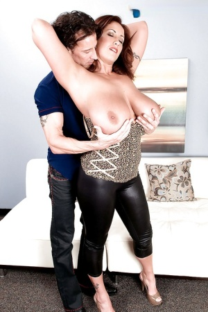 Gorgeous MILF with petite boobs Eva Notty gets her pussy slammed